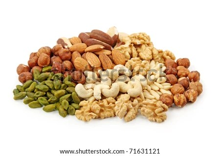 stock photo : Group of nuts isolated on white background
