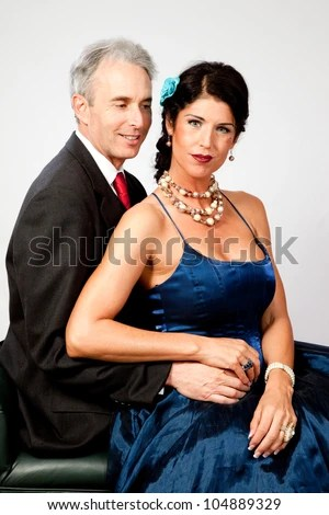 Couple Together In Semi Formal Dress. And A Romantic Mood Stock Photo 104889329 : Shutterstock