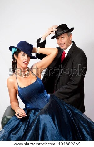 Couple Together In Semi Formal Dress. And A Romantic Mood Stock Photo 104889365 : Shutterstock