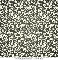 Seamless Floral Wallpaper, Monochrome Swirls Design ...