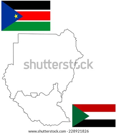 Sudan Map With New Borders Vector Illustration Of Actual