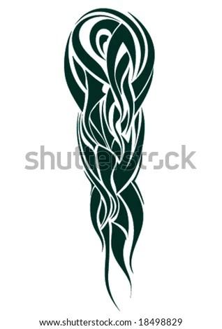 stock vector : shoulder head tribal tattoo