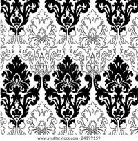 Victorian Wallpaper Design Stock Vector Illustration ...