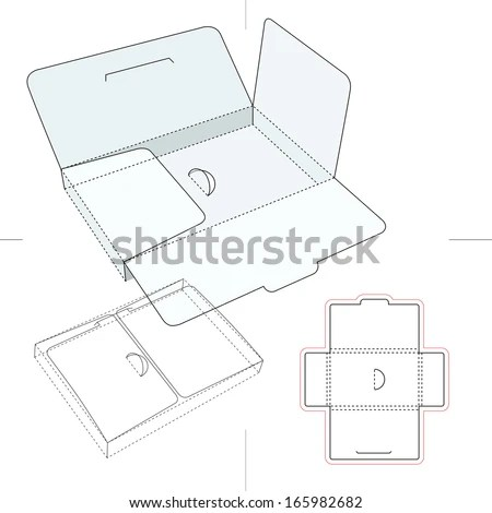 Compact And Thin Box Accessories Cardboard Box Stock