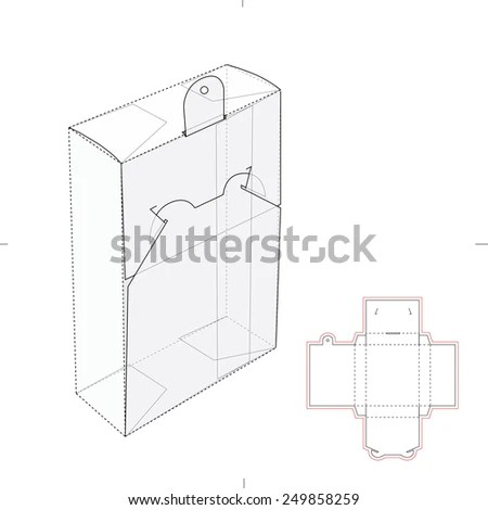 Pharmaceutical Package with Die Cut… Stock Photo 319574984