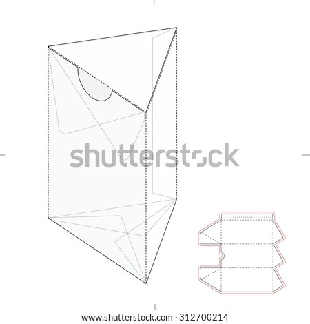 Resealable Dispenser Box with Die Cut… Stock Photo