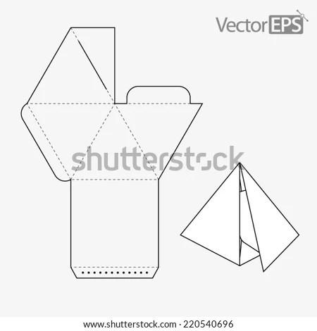Pyramid Box Stock Vector Illustration 220540696 : Shutterstock