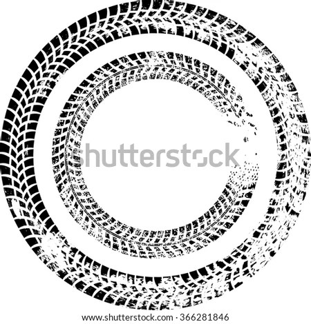 Vector Images, Illustrations and Cliparts: Tire Track