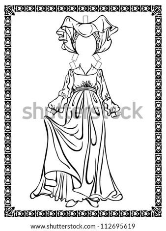 Medieval Costume. Burgundian Fashion. See Other Vintage