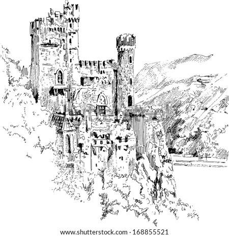 Diagram Of A Castle 2D Diagram of Modern Castle wiring