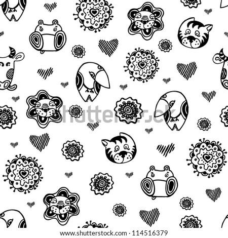 BABY BLACK PATTERN WHITE « FREE Knitting PATTERNS