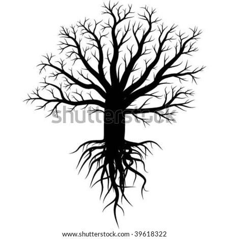 TATTOO designs: tree roots vector