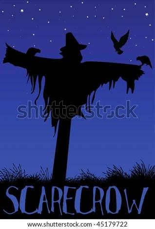 stock vector : vector scarecrow