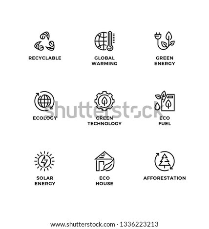 Stroke line icons set of AI machine… Stock Photo 380759770
