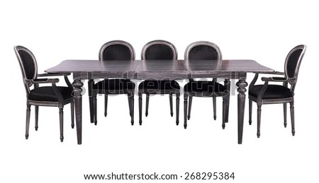 modern metal chairs chair seat covers amazon dining table with isolated on a white background