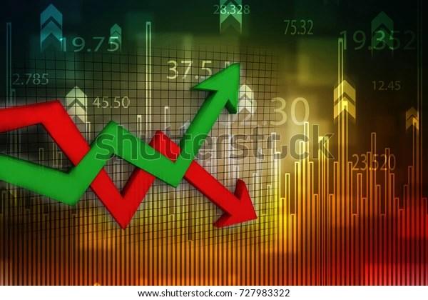Illustration de stock de Illustration 3d graphique d'inflation et de 727983322