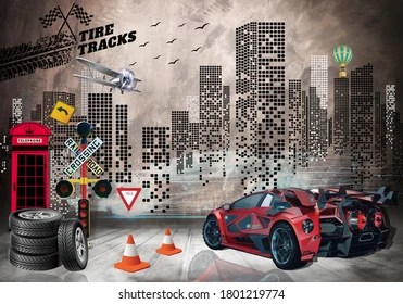 Check out this fantastic collection of 3d car wallpapers, with 53 3d car background images for your desktop, phone or tablet. 3d Wallpaper Cars High Res Stock Images Shutterstock