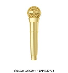 golden microphone images stock