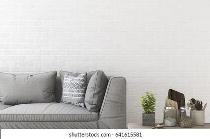 minimal sofa design dakota recliner costco 169 826 wood images royalty free stock photos on 3d rendering near brick wall and decor