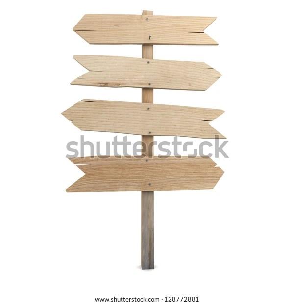 3d rendering wooden directional