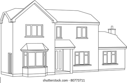 House Line Drawing Images, Stock Photos & Vectors