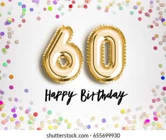 60th birthday images stock