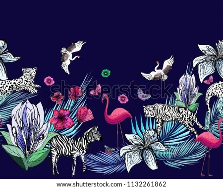 Image of: Elephant Abstract Raster Pattern With African Animals Design For Textile Textures Illustration Shutterstock Abstract Raster Pattern African Animals Design Stock Illustration