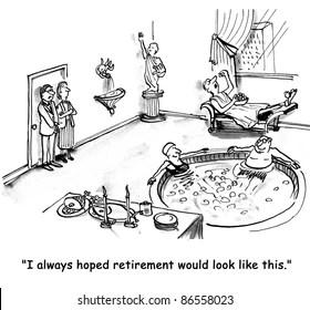 Retirement Cartoons Images, Stock Photos & Vectors