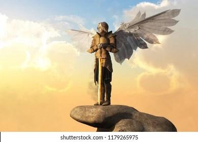 angel in armor stock