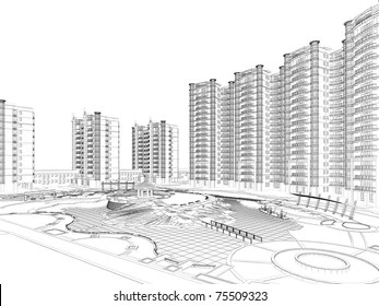 Drawing of Apartment Buildings Images, Stock Photos