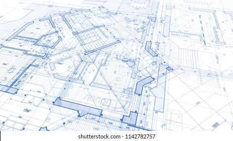 blueprints building images stock