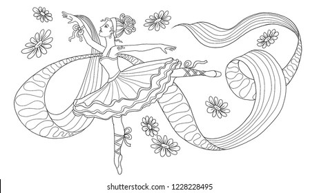 Ballet Coloring Pages Images Stock Photos Vectors Shutterstock