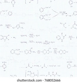 Seamlessly_chemistry_formulas_wallpaper Images, Stock