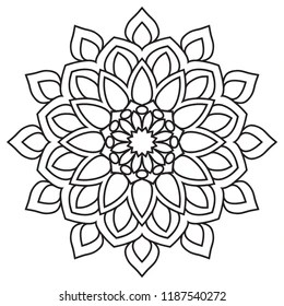 easy mandala coloring pages # 6