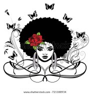 beautiful black woman afro hairstyle