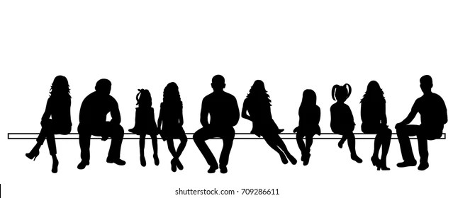 People Sitting Silhouette Images, Stock Photos & Vectors