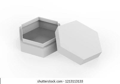 The packaging box of the pizza plays a vital role in marketing of their brand. Hexagon Box Mockup Images Stock Photos Vectors Shutterstock