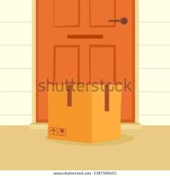 Box Door Clipart Image Stock Illustration 1387300655