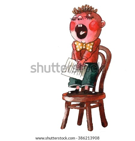 chair stands on overstock kitchen chairs boy reciting poemwatching stock illustration a and poem watching the cat watercolor