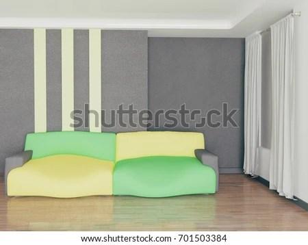 bright sofa baseline pris gray room 3 d rendering stock illustration 701503384 in the 3d