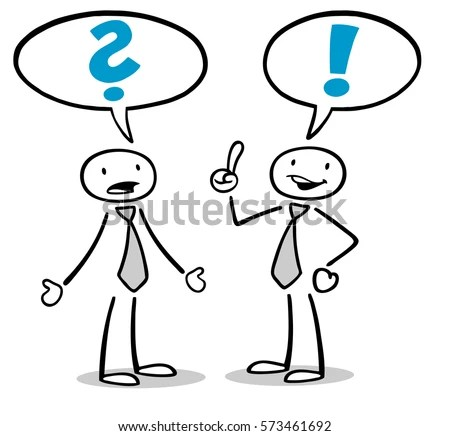 Cartoon Business People Discussion Problem Solution Stock