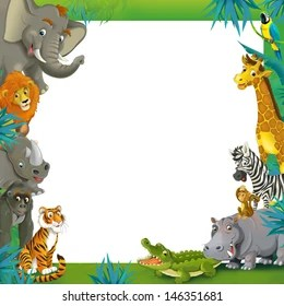 animal border images stock