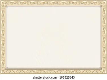 Blank Certificate Images, Stock Photos & Vectors | Shutterstock
