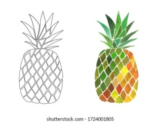 Pineapple Outline Images Stock Photos & Vectors Shutterstock