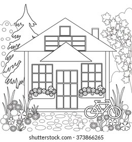House Coloring Page Images Stock Photos Vectors Shutterstock