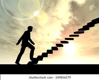 climbing stairs images stock