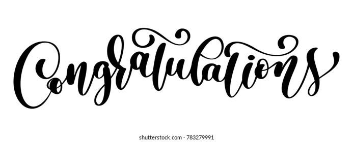 Handwritten Congratulations Images, Stock Photos & Vectors