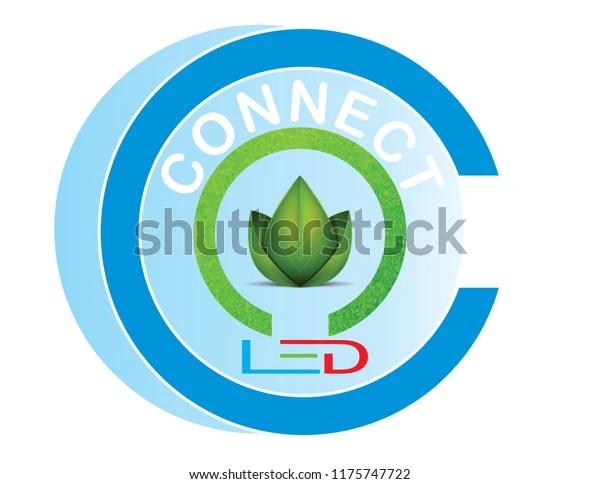 connect led logo design