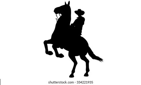 cowboy silhouette images stock