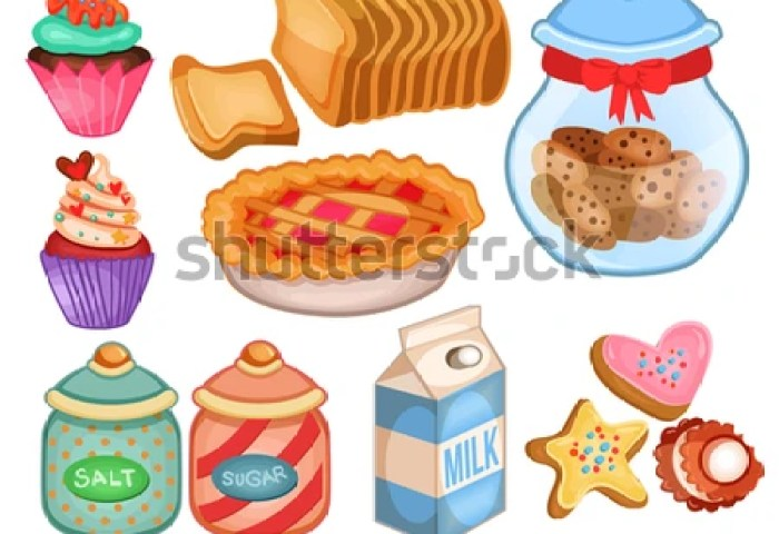 Cute Bakery Goods Clipart Stock Illustration 369013415 Shutterstock